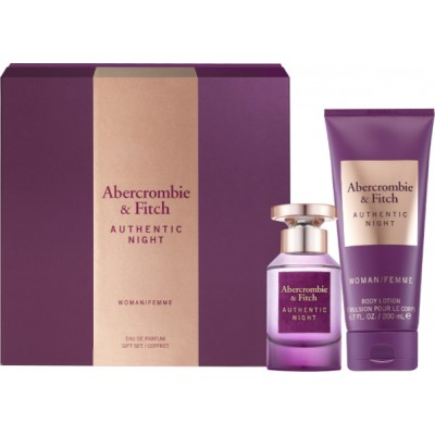 ABERCROMBIE & FITCH Authentic Night SET: EDP 50ml + body lotion 200ml