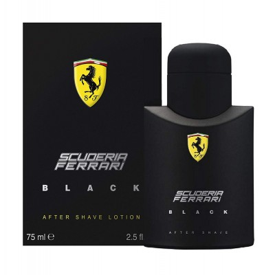 FERRARI Scuderia Ferrari Black aftershave lotion 75ml