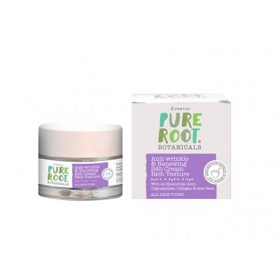 VENTUS Pure Root 24h Anti-Wrinkle & Renewing Cream Rich Texture 50ml