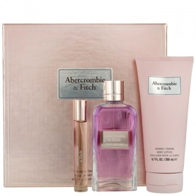 ABERCROMBIE & FITCH First Instinct for her SET: EDP 100ml + body lotion 200ml + mini EDP 15ml
