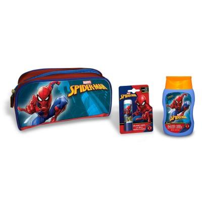 LORENAY Spiderman SET: shower gel 200ml + lip balm L-2552