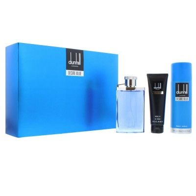 DUNHILL Desire Blue SET: EDT 100ml + deo spray 195ml + shower gel 90ml