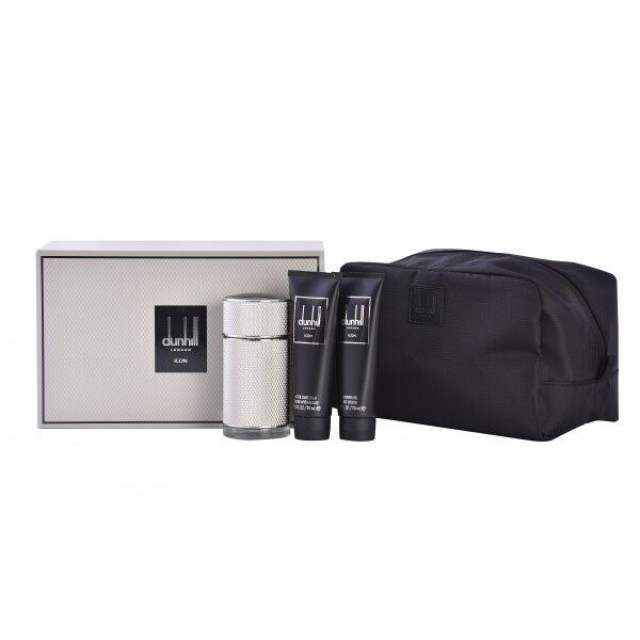 DUNHILL Icon SET: EDP 100ml + aftershave balm 90ml + shower gel 90ml + bag
