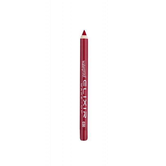 ELIXIR Waterproof Lip Pencil - 030 True Red