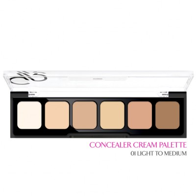 GOLDEN ROSE Correct & Conceal - Concealer Cream Palette 01 Light To Medium