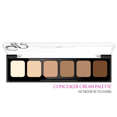 GOLDEN ROSE Correct & Conceal - Concealer Cream Palette 02 Medium To Dark