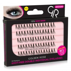 GOLDEN ROSE Knot Free Double Individual Eyelashes - Medium Black