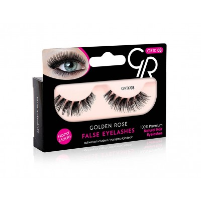GOLDEN ROSE False Eyelashes And Adhesive GRTK 08