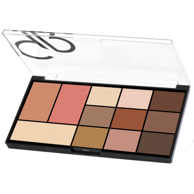 GOLDEN ROSE City Style Face & Eye Palette - 01 Warm Nude