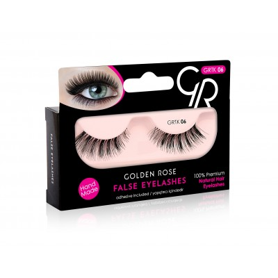 GOLDEN ROSE False Eyelashes And Adhesive GRTK 06