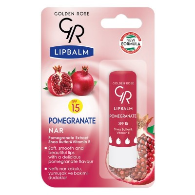 GOLDEN ROSE Lipbalm Pomegranate SPF 15
