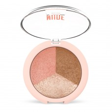 GOLDEN ROSE Nude Look Baked Trio Face Powder 19,5g