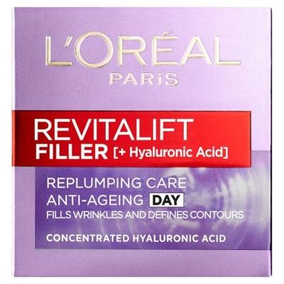 L'OREAL Revitalift Filler + Hyaluronic Acid Anti-Ageing Day Cream 50ml