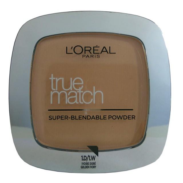 L'OREAL True Match Powder 1D/W1 Golden Ivory
