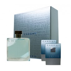 AZZARO Chrome SET: EDT 100ml + aftershave balm 75ml + shower gel 75ml