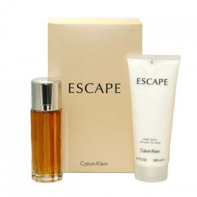 CALVIN KLEIN Escape For Women SET: EDP 100ml + body lotion 200ml