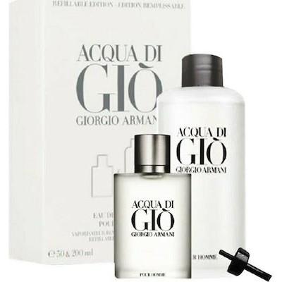 ARMANI Acqua Di Gio reffilable SET: EDT 200ml + EDT 50ml