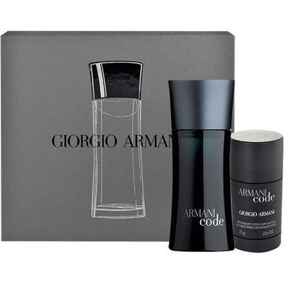 ARMANI Code for Men Set: EDT 75ml + deo stick 75ml
