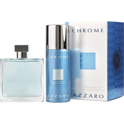 AZZARO Chrome SET: EDT 100ml + deo spray 150ml