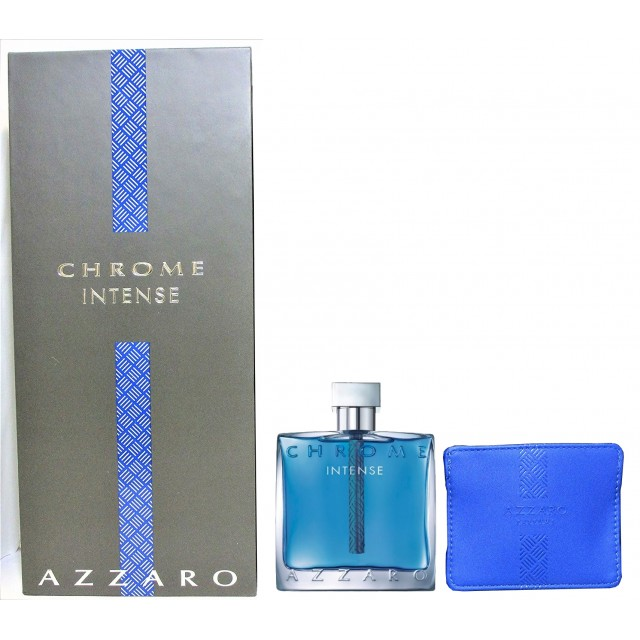 AZZARO Chrome Intense SET: EDT 100ml + Credit Card holder
