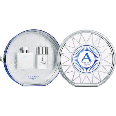 AZZARO Chrome Pure SET: EDT 50ml + deo stick alc.free 75ml