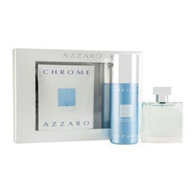 AZZARO Chrome SET: EDT 100ml + deo spray 150ml