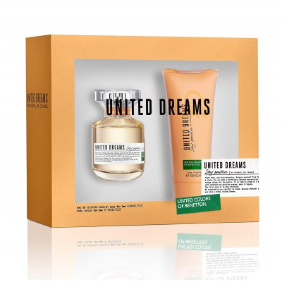 BENETTON United Dreams Stay Positive SET: EDT 80ml + body lotion 100ml