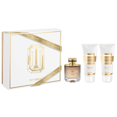 BOUCHERON Quatre Absolu de Nuit Pour Femme Set: EDP 100ml + body lotion 100ml + shower gel 100ml