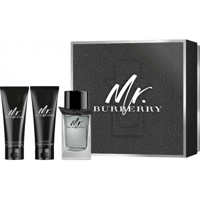 BURBERRY Mr. Burberry SET: EDT 100ml + aftershave balm 75ml + shower gel 75ml