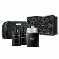 BVLGARI Bvlgari MAN Black Cologne SET: EDT 100ml + aftershave balm 75ml + shower gel 75ml + pouch