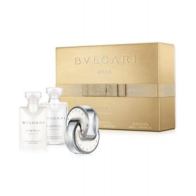 BVLGARI Omnia Crystalline SET EDT 40ml + body lotion 40ml + shower gel 40ml