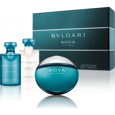 BVLGARI Aqva Pour Homme SET: EDT 50ml + shower gel 40ml + aftershave balm 40ml