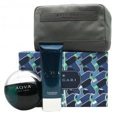 BVLGARI Aqva Pour Homme SET: EDT 100ml + aftershave balm 100ml + pouch