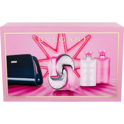 BVLGARI Omnia Pink Sapphire SET: EDT 65ml + body lotion 75ml + shower gel 75ml + pouch