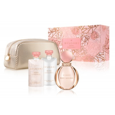 BVLGARI Rose Goldea Set: EDP 90 ml + body lotion 75ml + shower gel 75ml + pouch