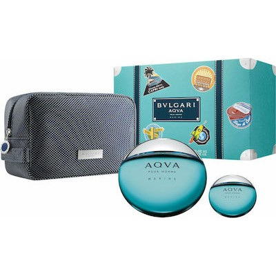 BVLGARI Aqva Marine for Men SET: EDT 100ml + EDT 15ml + pouch