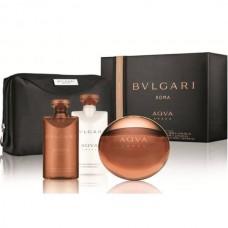 BVLGARI Aqva Amara SET: EDT 100ml +aftershave balm 75ml + shower gel 75ml + pouch