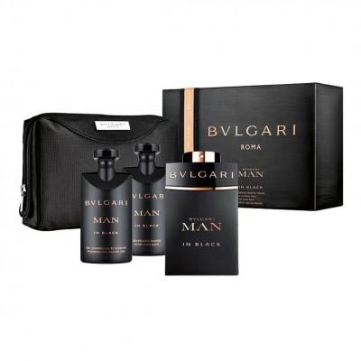 BVLGARI Bvlgari Man In Black SET: EDP 100ml + aftershave balm 75ml + shower gel 75ml + pouch