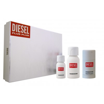 DIESEL Plus Plus Masculine SET: EDT 75ml + deo stick 75ml + EDT 30ml