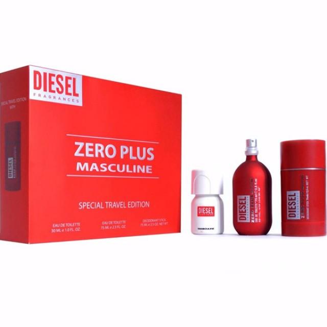 DIESEL Zero Plus Masculine SET: EDT 75ml + deo stick 75ml + Plus Plus EDT 30ml