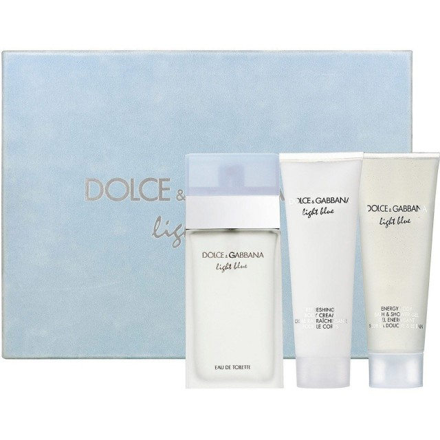DOLCE & GABBANA Light Blue Pour Femme SET: EDT 100ml + Body cream 100ml + Shower gel 100ml