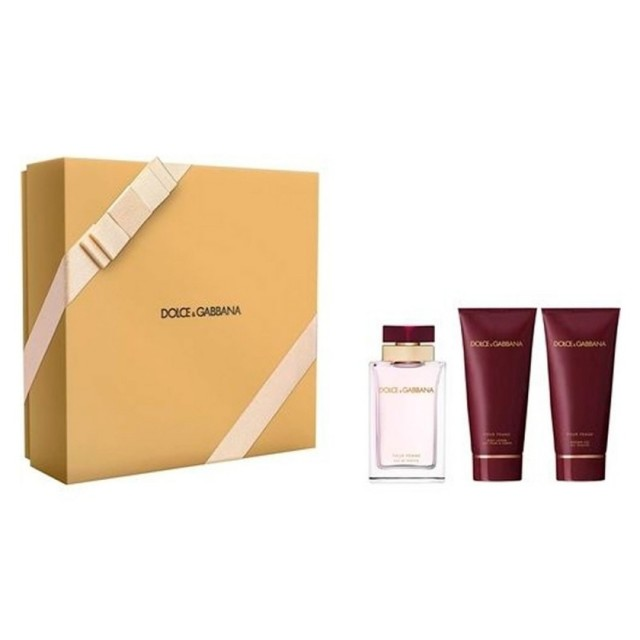 DOLCE & GABBANA Pour Femme SET: EDP 100ml + Body Lotion 100ml + Shower Gel 100ml