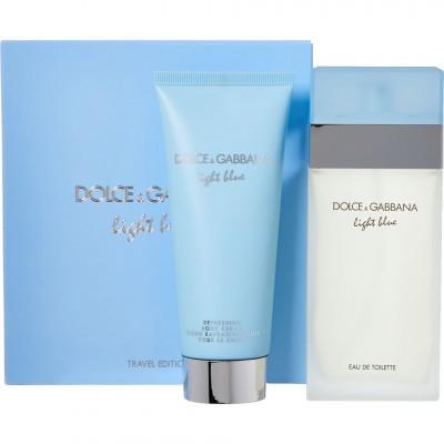 DOLCE & GABBANA Light Blue Pour Femme SET: EDT 100ml + Body Cream 100ml