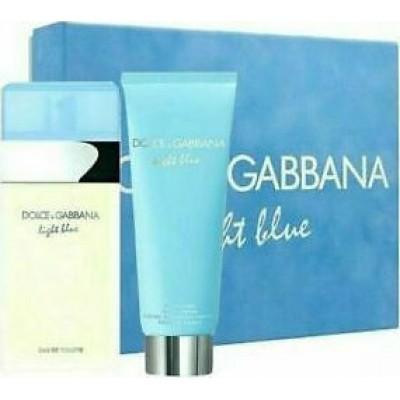 DOLCE & GABBANA Light Blue Pour Femme SET: EDT 100ml + body cream 75ml