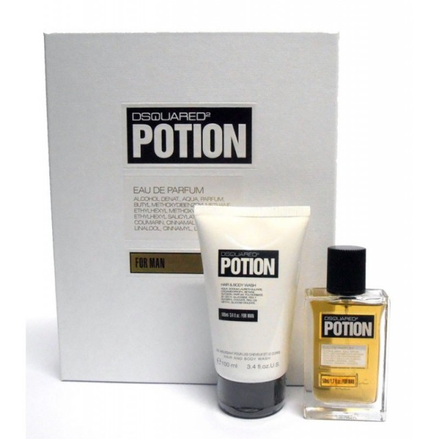 DSQUARED2 Potion SET for Him: EDP 50ml + shower gel 100ml