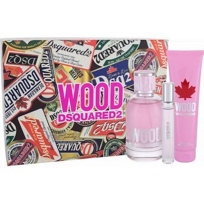DSQUARED2 Wood pour Femme SET: EDT 100ml + EDT 10ml + shower gel 150ml