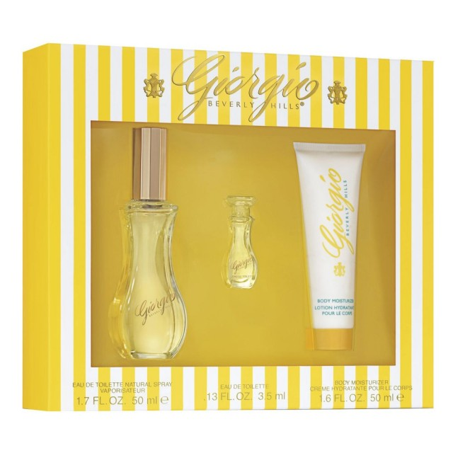 GIORGIO BEVERLY HILLS Giorgio Yellow SET: EDT 50ml + body lotion 50ml + EDT 3.5ml
