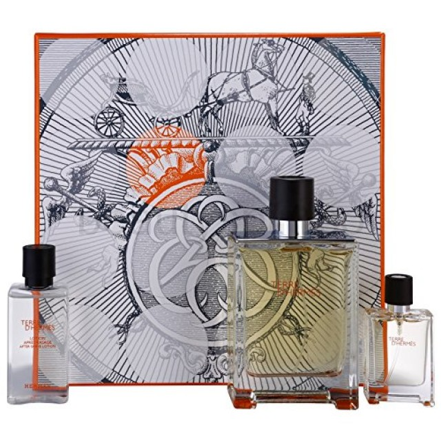 HERMES Terre d'Hermes SET: EDT 100ml + aftershave lotion 40ml + EDT 12,5ml