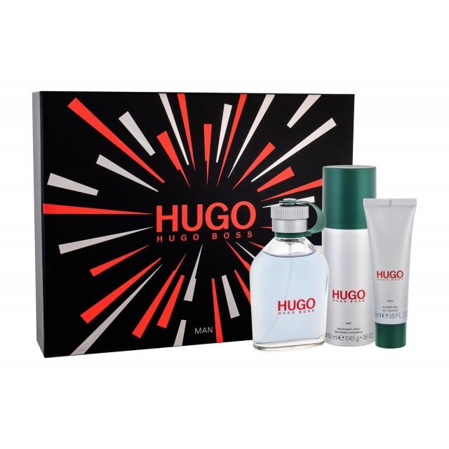 HUGO BOSS Hugo Man SET: EDT 125ml + deo spray 150ml + shower gel 50ml
