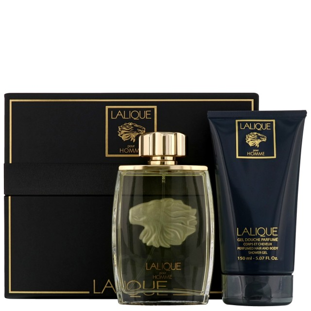 LALIQUE Pour Homme Lion SET: EDP 125ml + Shower gel 150ml